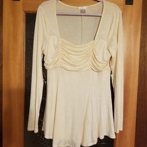 NWOT Venus Cream Colored Long Sleeve Blouse